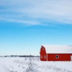 winter farm scene in Town of Hamburg, Marathon County, Wisconsin